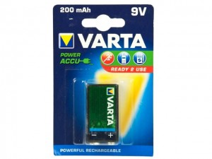 Akumulator 9V (8,4V) 200mAh; Varta Ready2Use