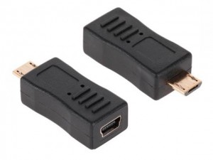 Adapter wtyk micro USB na gniazdo USB mini